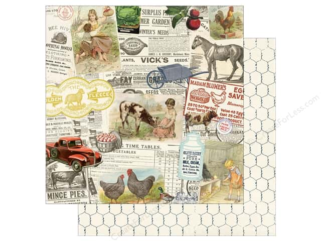 Authentique 12 x 12 in. Paper Homestead Montage (25 sheets)