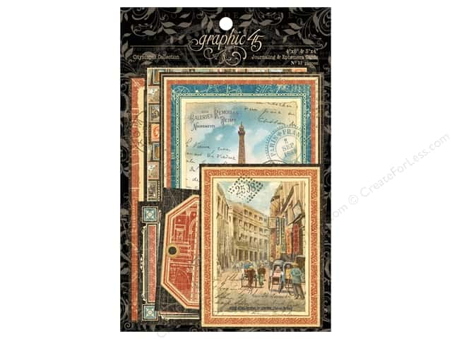 Graphic 45 Journaling & Ephemera Cards Cityscapes