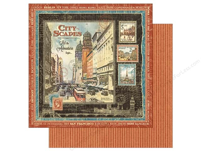 Graphic 45 12 x 12 in. Paper Cityscapes (25 sheets)