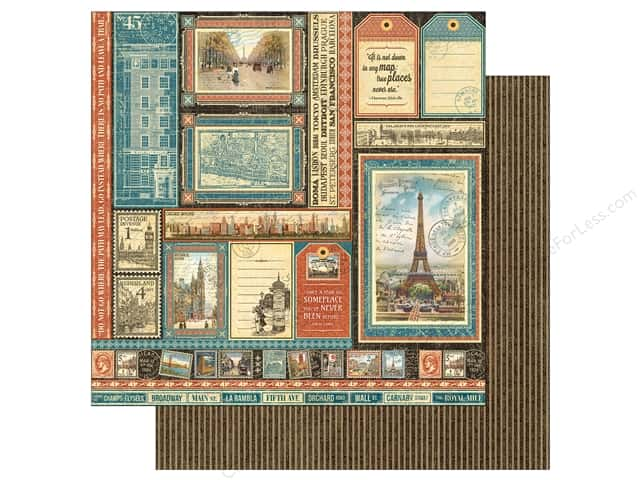 Graphic 45 12 x 12 in. Paper Cityscapes Global Odyssey (25 sheets)