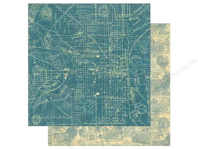 Graphic 45 12 x 12 in. Paper Cityscapes Map The Past (25 sheets)
