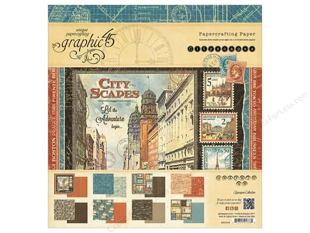Graphic 45 12 x 12 in. Paper Pad Cityscapes