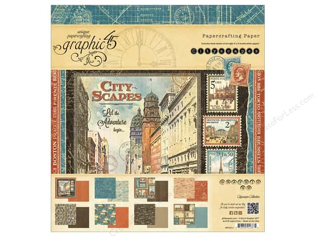 Graphic 45 8 x 8 in. Paper Pad Cityscapes