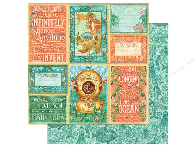 Graphic 45 12 x 12 in. Paper Voyage Beneath The Sea Wild Wild Waves (25 sheets)