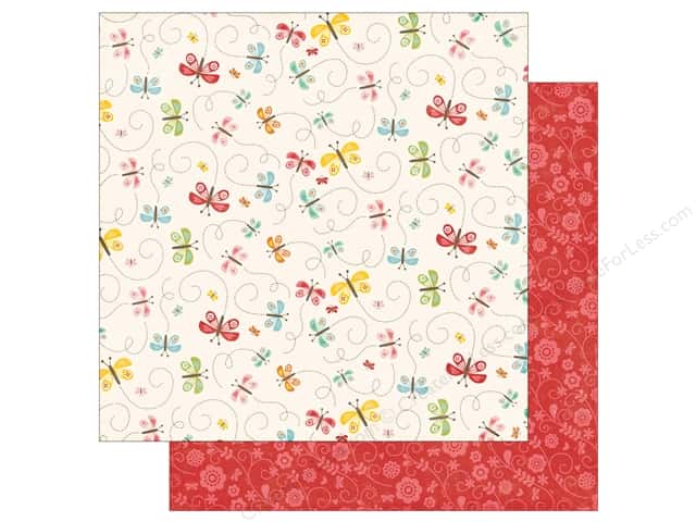 Echo Park 12 x 12 in. Paper Happy Summer Collection Beautiful Butterflies (25 sheets)