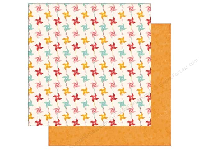 Echo Park 12 x 12 in. Paper Happy Summer Collection Pinwheels (25 sheets)