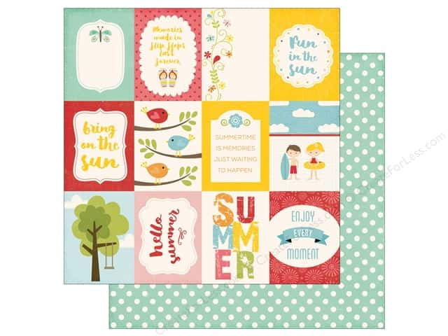 Echo Park 12 x 12 in. Paper Happy Summer Collection 3 x 4 Journaling Cards (25 sheets)