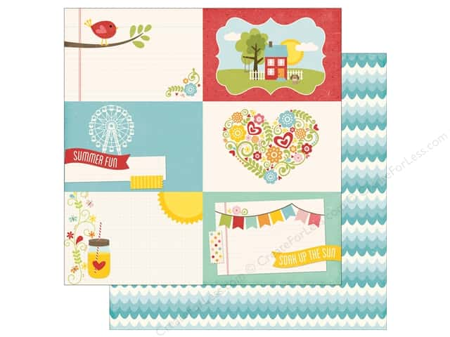 Echo Park 12 x 12 in. Paper Happy Summer Collection 4 x 6 Journaling Cards (25 sheets)