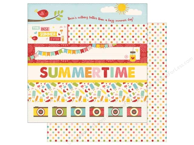 Echo Park 12 x 12 in. Paper Happy Summer Collection Border Strips (25 sheets)