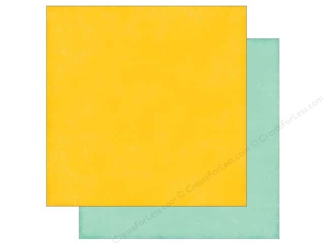 Echo Park 12 x 12 in. Paper Happy Summer Collection Yellow/Teal (25 sheets)