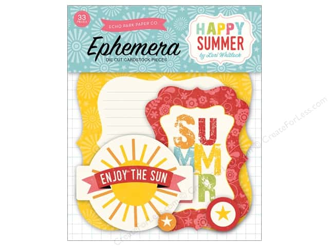 Echo Park Ephemera Pack Happy Summer