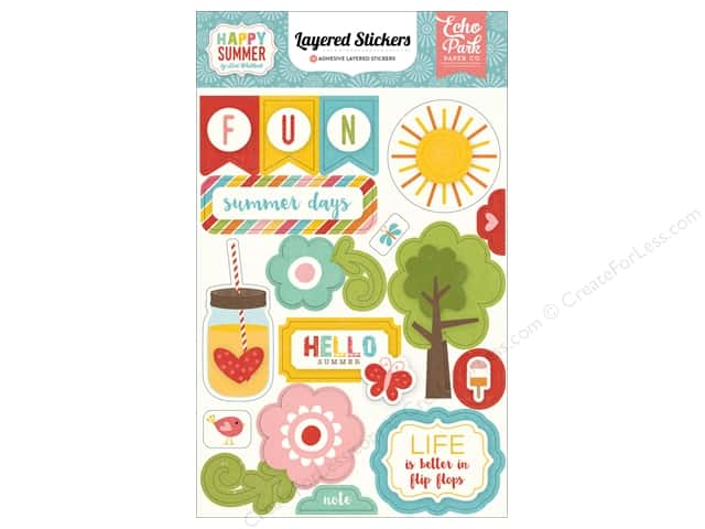 Echo Park Collection Happy Summer Stickers Layered