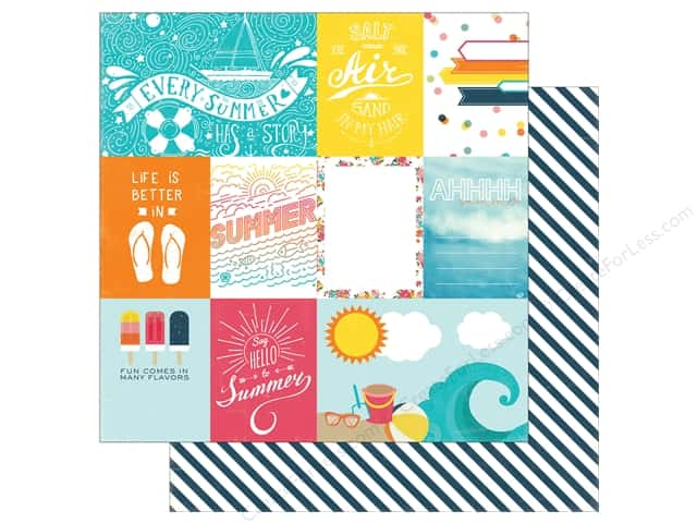 Echo Park 12 x 12 in. Paper Summer Party Collection Journaling Card (25 sheets)