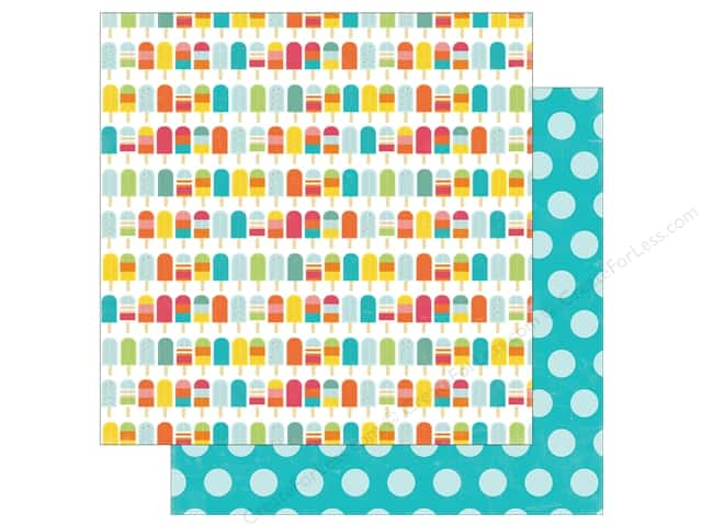 Echo Park 12 x 12 in. Paper Summer Party Collection Ice On A Stick (25 sheets)
