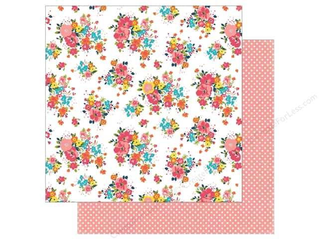 Echo Park 12 x 12 in. Paper Summer Party Collection Blazing Floral (25 sheets)