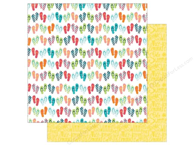 Echo Park 12 x 12 in. Paper Summer Party Collection Flip Flops (25 sheets)