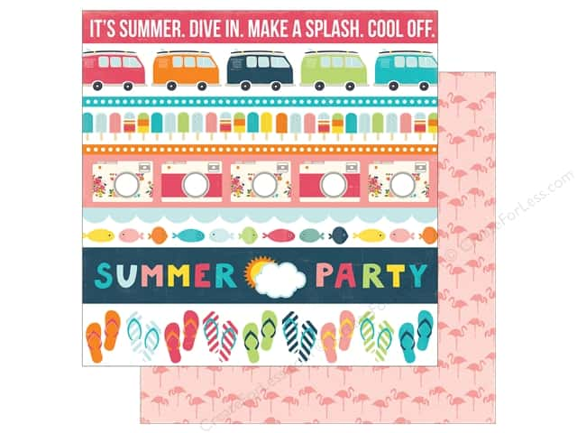 Echo Park 12 x 12 in. Paper Summer Party Collection Borders (25 sheets)