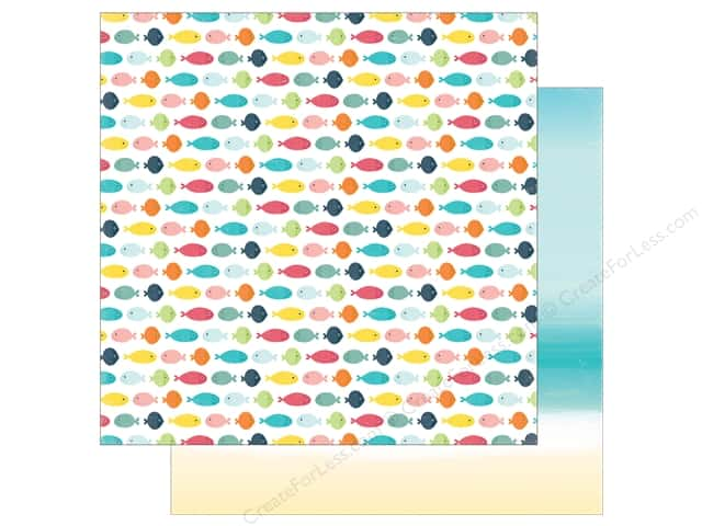 Echo Park 12 x 12 in. Paper Summer Party Collection Swimming Fish (25 sheets)
