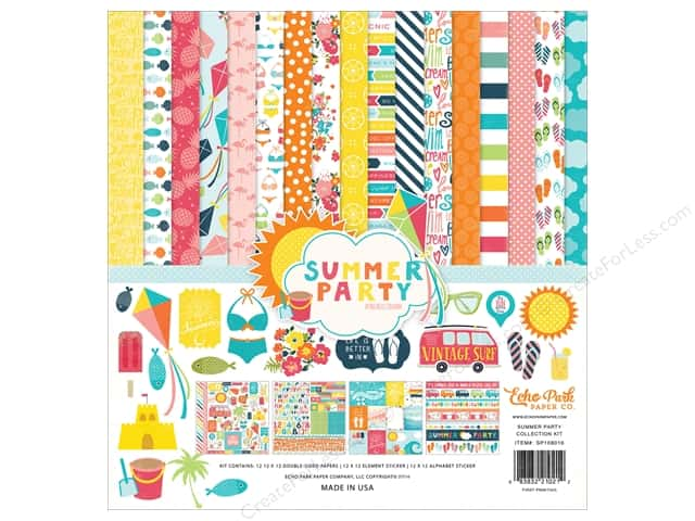 Echo Park 12 x 12 in. Collection Kit Summer Party