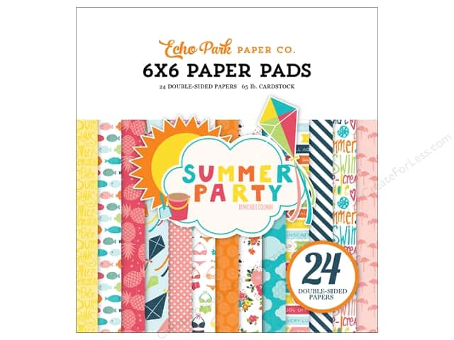 Echo Park 6 x 6 in. Paper Pad Summer Party