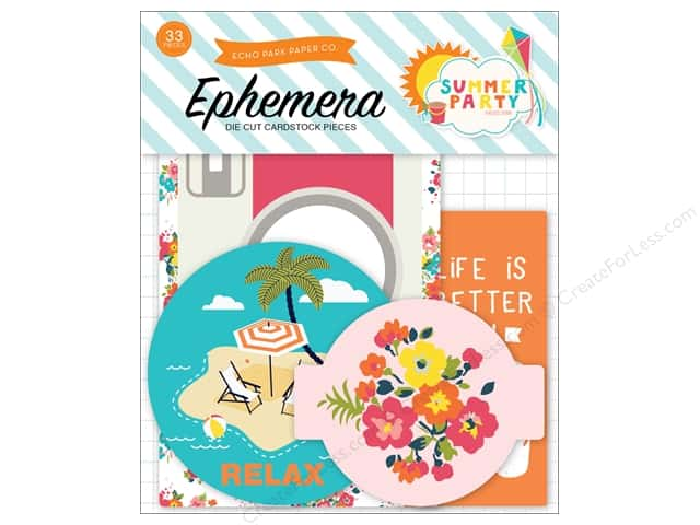 Echo Park Ephemera Pack Summer Party Collection