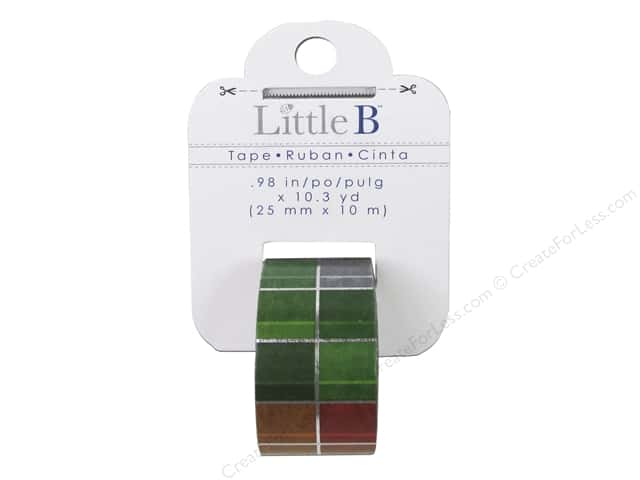 Little B Decorative Paper Tape 1 in. Silver Foil Multi Color Squares