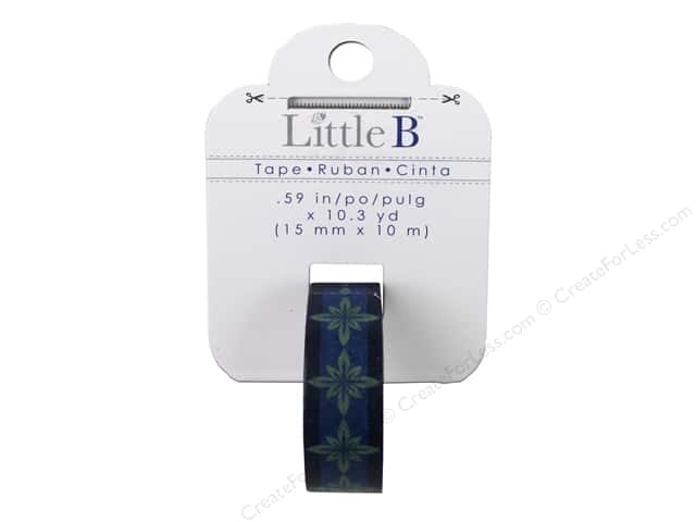 Little B Decorative Paper Tape 5/8 in. Green/Blue Burst