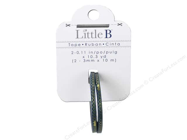 Little B Decorative Paper Tape 1/8 in. Gold Foil Heart Links 2 pc.