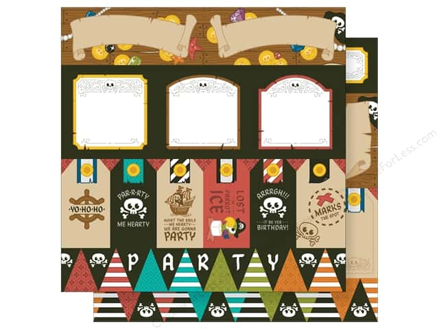 Imaginisce 12 x 12 in. Paper Party Me Hearty Par-r-rty (25 sheets)