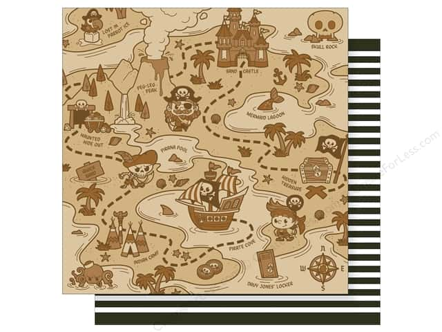 Imaginisce 12 x 12 in. Paper Party Me Hearty Treasure Map (25 sheets)