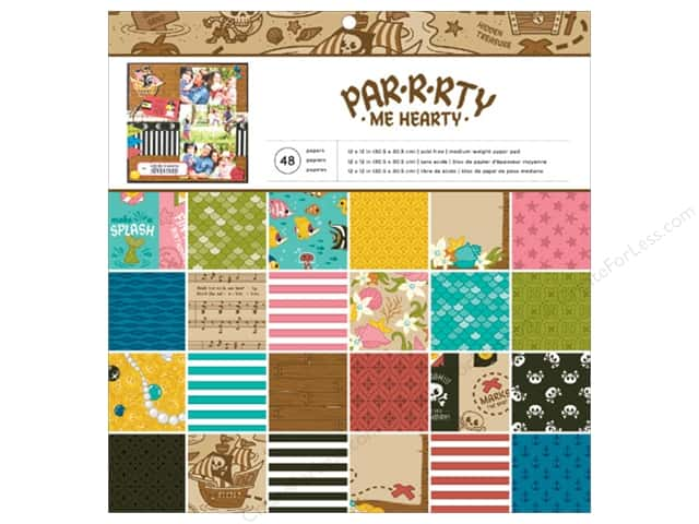 Imaginisce 12 x 12 in. Paper Pad Party Me Hearty