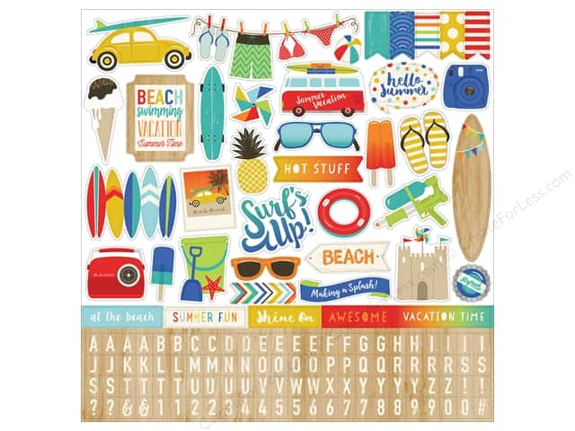Carta Bella Stickers Beach Day Element (15 sheets)