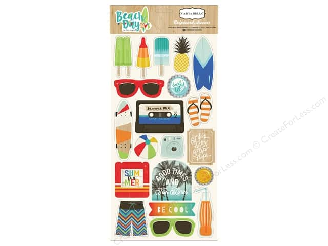 Carta Bella Chipboard Accents Beach Day