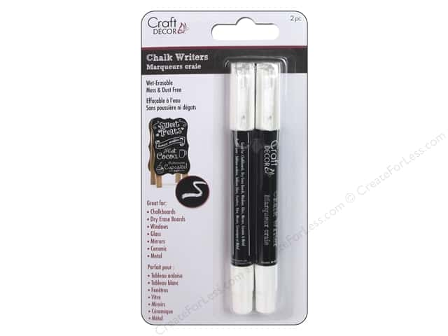 Craft Decor Chalk Writer White 2 pc.