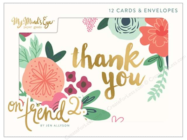 My Mind's Eye Collection On Trend 2 Cards & Envelopes Set