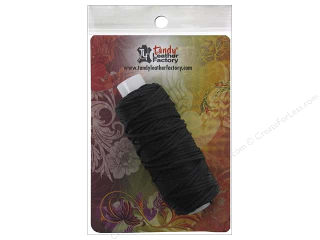 Leather Factory Braided Cord Waxed Black 25yd