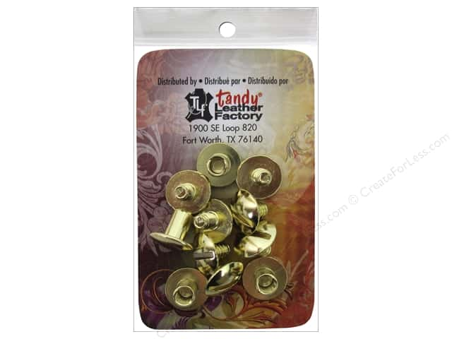 Leather Factory Chicago Screw Post 1/4 in. Solid Brass 10 pc.