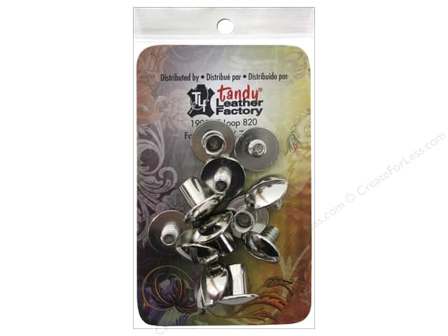 Leather Factory Chicago Screw Post 1/4 in. Nickel Plated Steel 10 pc.