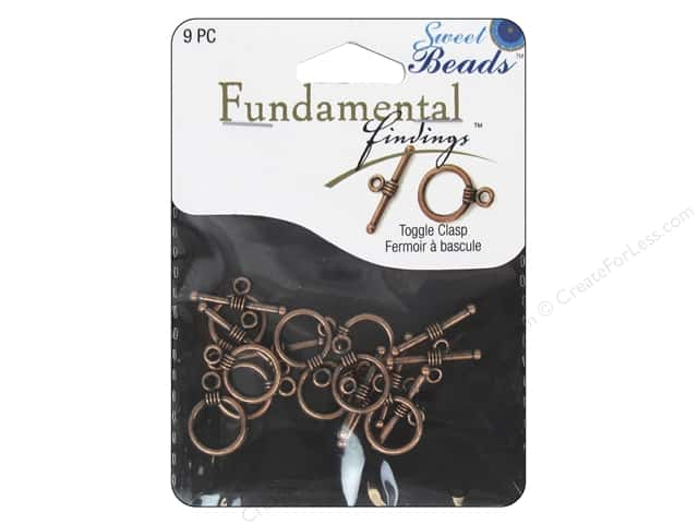 Sweet Beads Fundamental Finding Toggle Clasp 7/16 in. Antique Copper 9 pc.