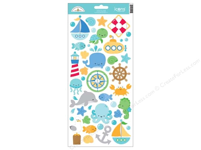 Doodlebug Sticker Anchors Aweigh Icon (12 sets)