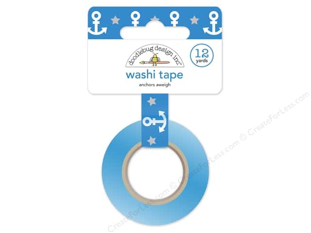 Doodlebug Washi Tape 5/8 in. x 12 yd. Anchors Aweigh