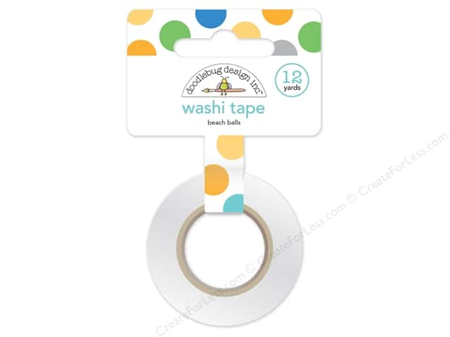Doodlebug Washi Tape 5/8 in. x 12 yd. Anchors Aweigh Beach Balls