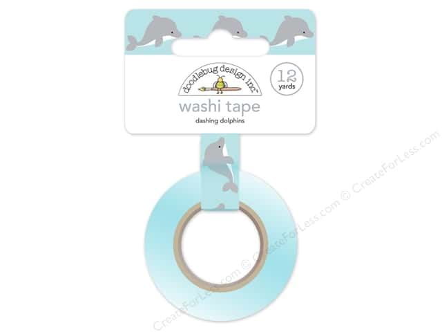 Doodlebug Washi Tape 5/8 in. x 12 yd. Anchors Aweigh Dashing Dolphin