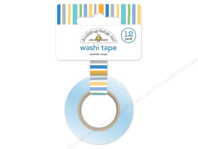 Doodlebug Washi Tape 5/8 in. x 12 yd. Anchors Aweigh Seaside Stripe