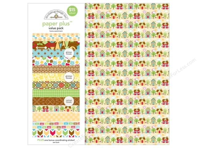 Doodlebug 12 x 12 in. Paper Plus Value Pack Home