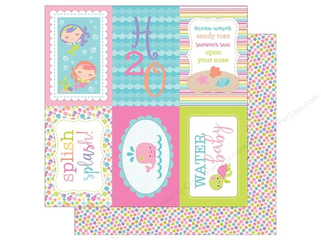 Doodlebug 12 x 12 in. Paper Under The Sea Water Lilies (25 sheets)
