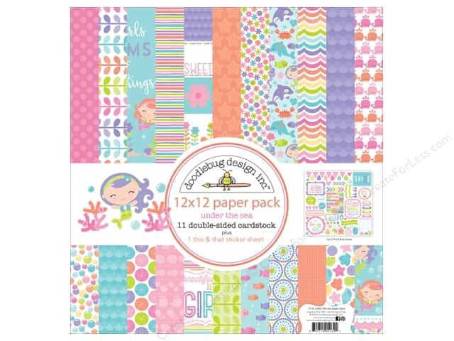 Doodlebug 12 x 12 in. Paper Pack Under The Sea