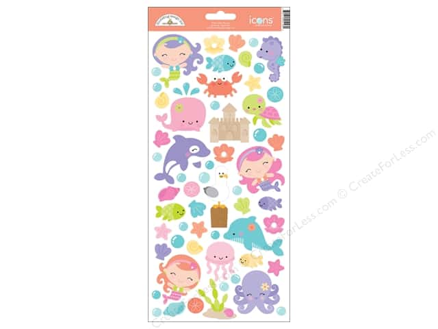 Doodlebug Sticker Under The Sea Icon (12 sets)