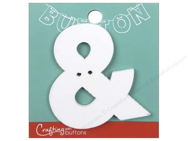 Crafting With Buttons Wood Letter 2 1/4 in. Ampersand White