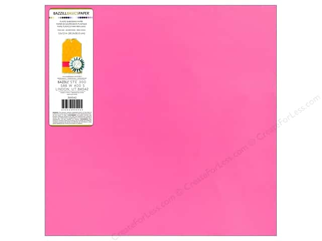 Bazzill 12 x 12 in. Plastic Embossing Sheet Pink Kiss (15 sheets)